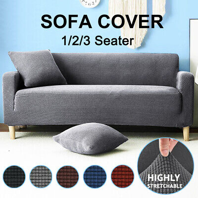 AU19.29 • Buy Sofa Covers Stretch Lounge Couch Slipcovers Protector 1 2 3 Seaters Dining Chair