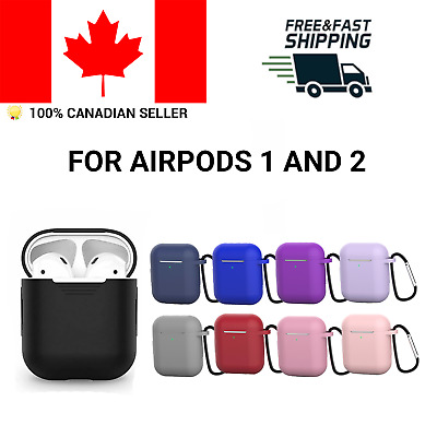 $ CDN5.95 • Buy Silicone Case For Apple Airpods Protective Skin Cover Airpod 1 2 Clip Carabiner