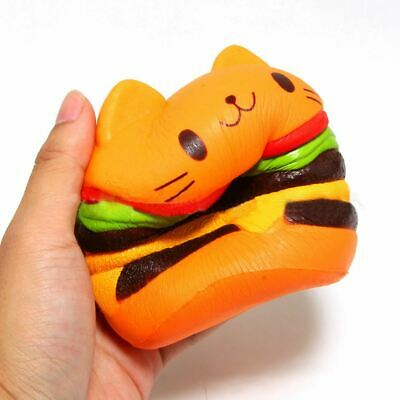 AU13.33 • Buy Cat Hamburger Food Squishys Cake Stress Relief Toys Scented Squeeze Slow Rising