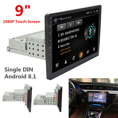 $205.70 • Buy Single DIN 9  Touch Screen Android 8.1 Car Stereo Radio GPS WiFi W/ Rear Camera