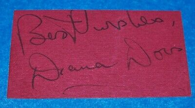 Classic British Movie Babe Diana Dors Signed Card (trimmed), 1949! • 30.66£