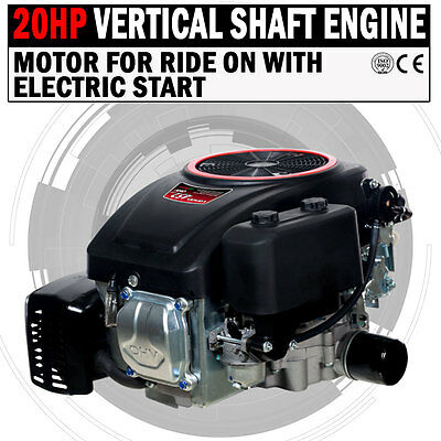 AU720 • Buy NEW 20HP Vertical Shaft Petrol Engine Ride On Mower Motor With Electric Start