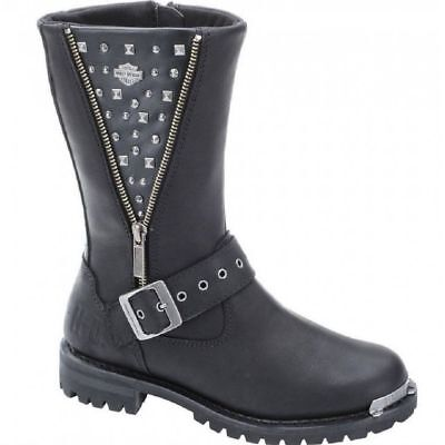 $114.95 • Buy C412 Harley Davidson Tanya Studded Riding Boots  Usa 10m Euro 42  Mint Condition