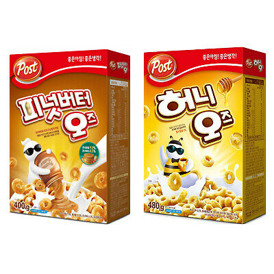 Post Oreo O's Cereal Honey Peanut Butter 400g Korean Snack Oreo Os DongSeo Food • 26.63£