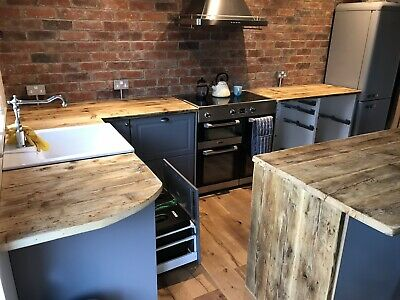 Kitchen Counter Top Wooden Upcycled Scaffolding • 100£