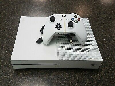 Microsoft Xbox One S 1681 1TB 4K HD HDR Gaming Console W/Controller/Power Cord • 175$