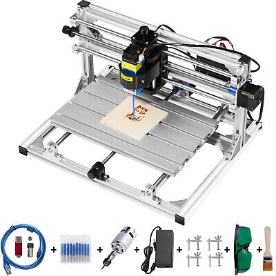 AU378.95 • Buy 3 Axis CNC Router Kit 3018 5500MW Injection Molding Material With Laser Engraver
