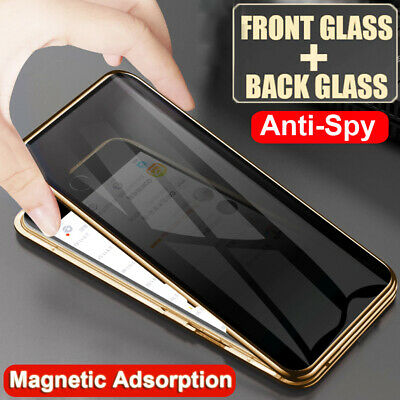 $ CDN13.39 • Buy 360 Privacy Anti-Spy Full Glass Magnetic Case Cover For Samsung Galaxy S8 S9 S10