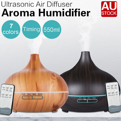 AU26.89 • Buy 550ml Air Humidifier Purifier Essential Oil Diffuser Aroma Aromatherapy Lamp LED