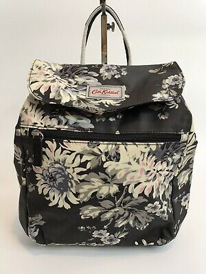 Cath Kidston Backpack Oilcloth - York Flowers - Deep Charcoal - RRP £50 -BNWT • 34.90£