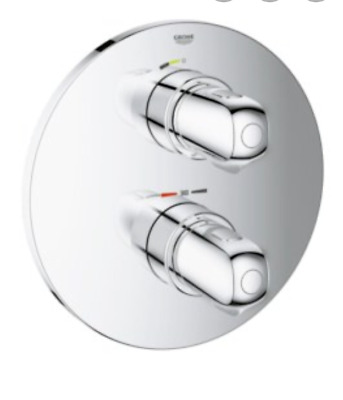 GROHE 19984000 Grohtherm 1000 Thermostatic Shower Mixer Chrome TRIM SET ONLY • 49.99£