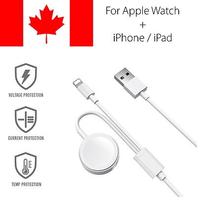 $ CDN11.93 • Buy 2 In 1 For Apple Watch Charger And IPhone Cable Magnetic Charging Fast