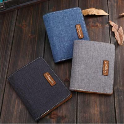 $ CDN6.34 • Buy High Quality Soft Leather Canvas Wallet Short Casual Style Fabric Purse For Men