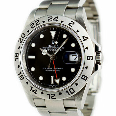 $ CDN13815.90 • Buy ROLEX Rehaut Stainless Steel Explorer II Black Index Box Books 16570 SANT BLANC