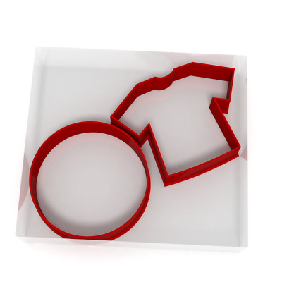 Football And Shirt Cookie Cutter Set Of 2 Biscuit Dough Icing Pastry Shape UK • 3.69£