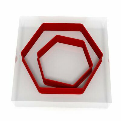 Hexagon Cookie Cutter Set Of 2 Biscuit Dough Icing Pastry Shape UK • 3.99£