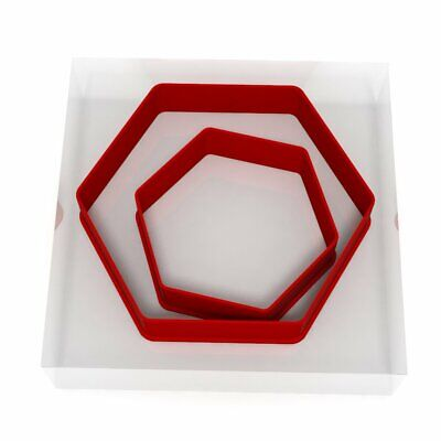 Hexagon Cookie Cutter Set Of 2 Biscuit Dough Icing Pastry Shape UK • 2.89£