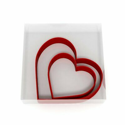 Heart Cookie Cutter Set Of 2 Biscuit Dough Icing Pastry Shape UK • 3.69£