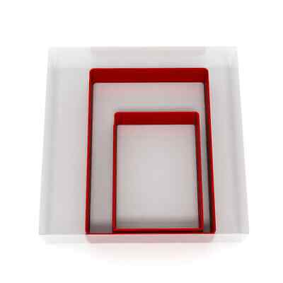 Rectangle Cookie Cutter Set Of 2 Biscuit Dough Icing Pastry Shape UK • 3.69£