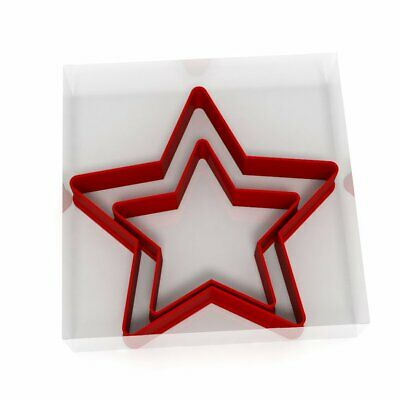 Star Cookie Cutter Set Of 2 Biscuit Dough Icing Pastry Shape UK • 3.29£