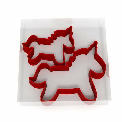 Unicorn Cookie Cutter Set Of 2 Biscuit Dough Icing Pastry Shape UK • 2.99£