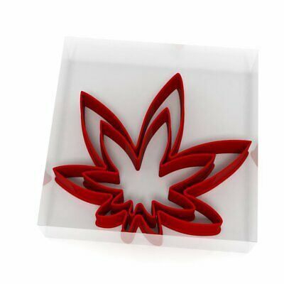 Weed Leaf Cookie Cutter Set Of 2 Biscuit Dough Icing Pastry Shape UK Cannabis • 3.69£