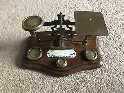 Genuine Warranted Accurate Post Office Brass Letter Weighing Scales • 50£