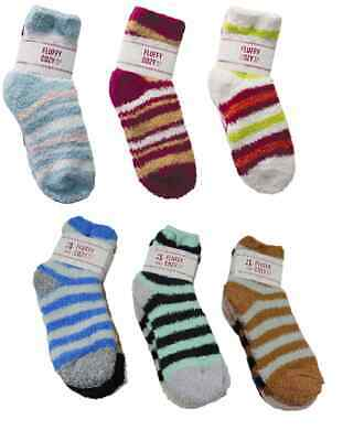 $10.95 • Buy 6 Pair Ladies Premium Fluffy Super Soft Fuzzy Socks Winter School Warm Cozy New