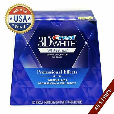 AU71.85 • Buy 1 Box Crest3D White LUXE Whitestrips Professional Whitening Effect 20 Pouches