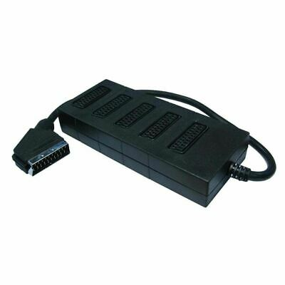 5 Way SCART Lead/Cable/Wire Splitter Box Use 5 Devices In 1 Socket • 6.92£