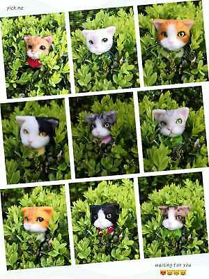 Handmade Needle Felted Wool Cat Brooch Cute Cat/ Animal Brooch/pin And Clip/gift • 12.99£