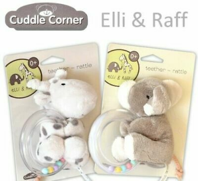 £25.99 • Buy Elli And Raff Plush Baby Teether/rattle  First Soft Toy For Tiny Hands