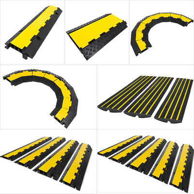 £34.59 • Buy Cable Protector Ramp 2/3 Channel 45° Right/Left Turn PVC Wire Cover Rubber