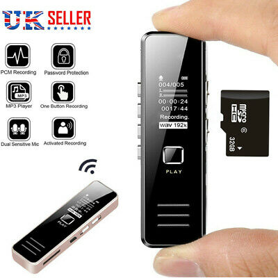 £18.99 • Buy 32GB Rechargeable Digital Audio/Sound/Voice Recorder Dictaphone MP3 Player USB