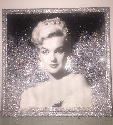 Marilyn Monroe Crystal Rhinestone And Glitter Wall Picture Frame • 28.21£