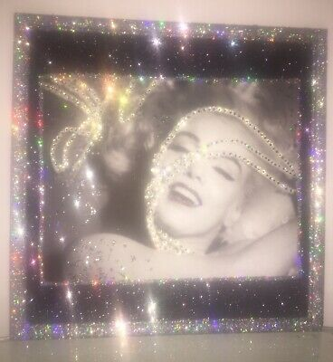 Marilyn Monroe Crystal Rhinestone And Glitter Wall Picture Frame • 30.70£