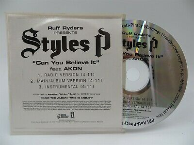 £2.83 • Buy Styles P Featuring Akon ♫ Can You Believe It ♫ 3 Track DJ PROMO CD ♫ Ruff Ryders
