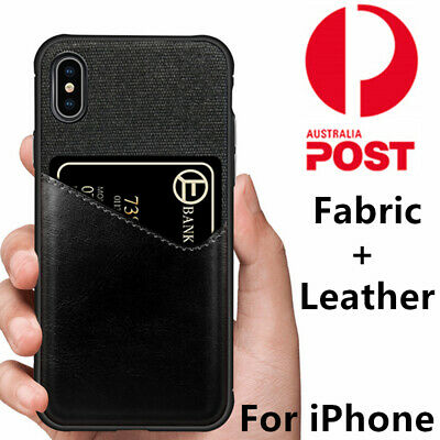 AU9.99 • Buy PU Leather Back Card Slot Pocket Cover Case For IPhone 11 XS Max R X 8 7 6s Plus
