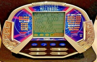 £8.74 • Buy Tiger Electronics 2000 Who Wants To Be A Millionaire Electronic Hand-held Game