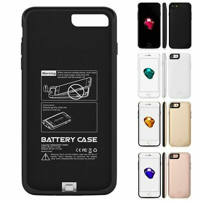 Battery External Power Slim Charger Case Charging Cover For IPhone 6 7 8 Plus X • 13.86£
