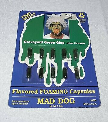 $ CDN6.80 • Buy Vintage Halloween Fright Factory Lime Flavored Candy Foaming Capsules Sealed Nos
