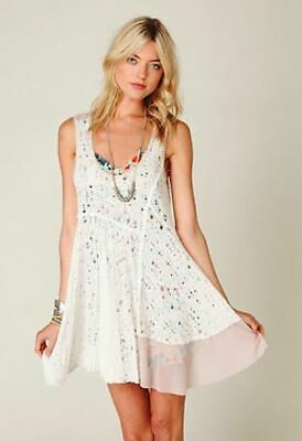 $ CDN156.43 • Buy Free People Luscious Lagoon White Lace Slip Dress M ASO Violet Harmon AHS Rare