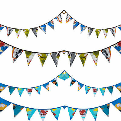 Bunting Prints Triangle Flag Cotton 3m Childrens Birthday Party Decorations • 4.97£
