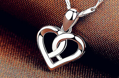 £2.97 • Buy Swirl Heart Pendant 925 Sterling Silver Chain Necklace Womens Jewellery Gift UK