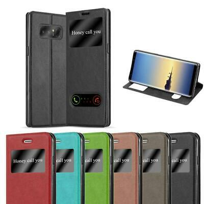 $ CDN11.99 • Buy Case For Samsung Galaxy NOTE 8 Phone Cover Viewing Windows Wallet Book