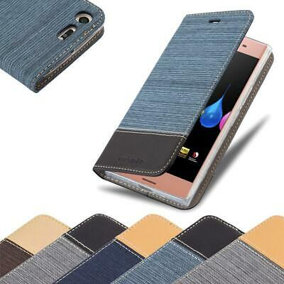 AU12.50 • Buy Case For Sony Xperia XZ PREMIUM Phone Cover Denim Style Protective Wallet Book