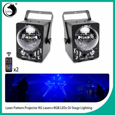 2PCS LED RGB Laser Projector Stage Lights Xmas Party DJ Disco KTV Show+Remote • 58.99$