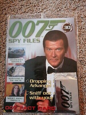 James Bond 007 Spy Files New With Cards #30 Secret Agent Spy Collectable • 3.49£