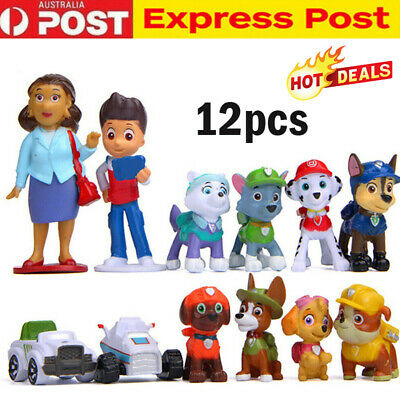 AU14.99 • Buy Paw Patrol Toys Puppy Rescue Action Figure Doll Kids Toy Gift Cake Topper 12 PCS
