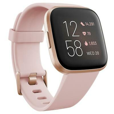 $ CDN227.10 • Buy Fitbit Versa 2 Health And Fitness Smartwatch, Petal/Copper Rose Aluminum